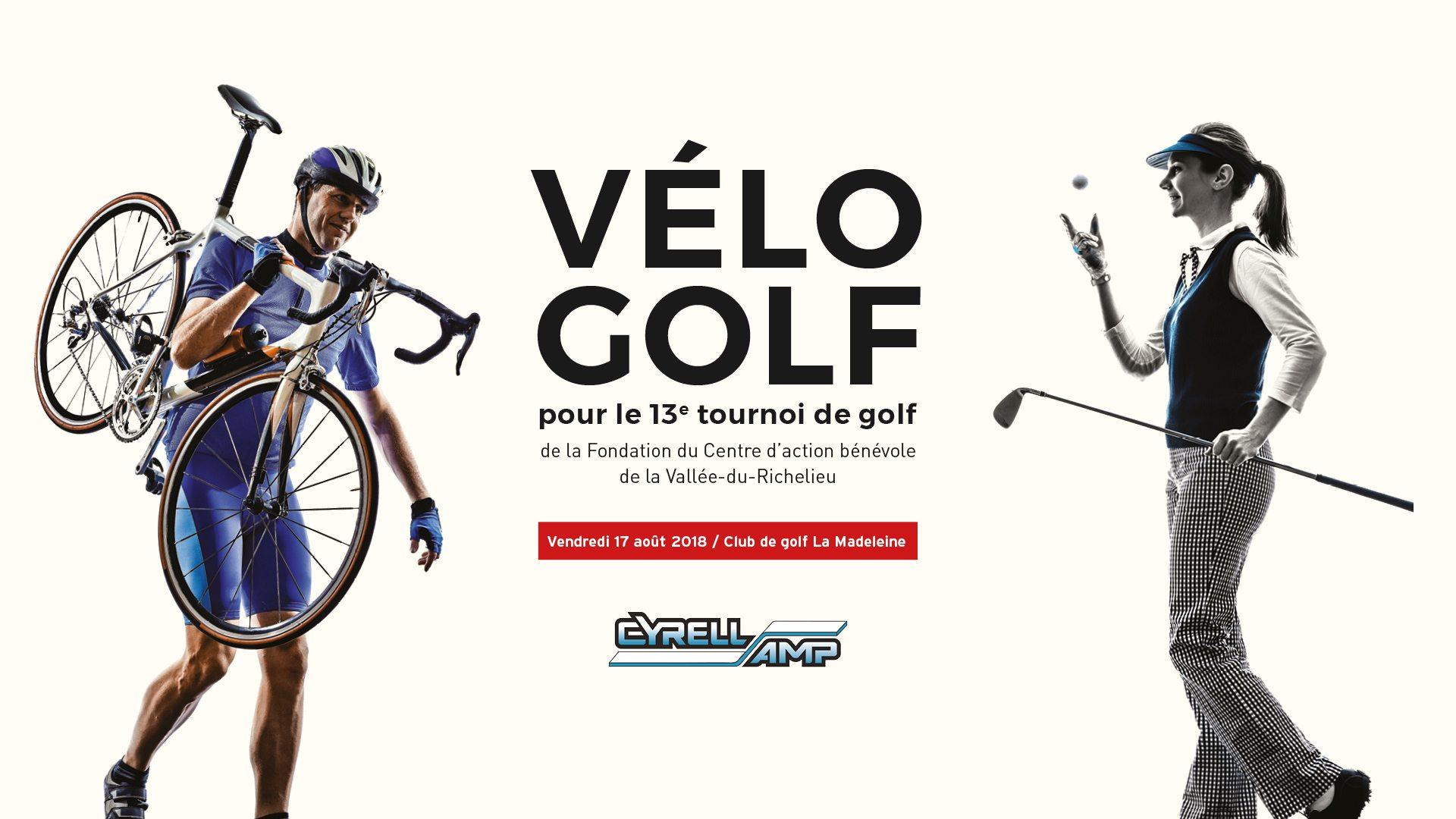 Vélo-Golf – 13e tournoi de golf de la Fondation du CABVR